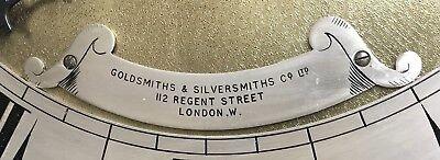 ~ Antique Brass Dial OAK Grandfather Longcase Clock GOLDSMITHS REGENT ST LONDON 10