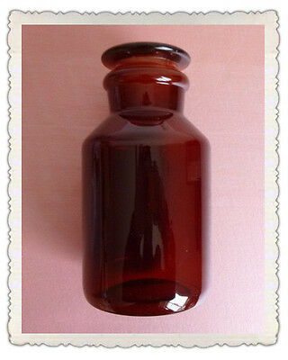 250ml Amber Glass Reagent bottle,Wide mouth,with ground stopper,None Graduation 5
