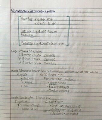 Grade 12 Calculus and Vectors Notes 3