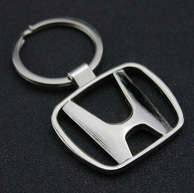 Car Logos 3D chromed Titanium Key Chain Car Keychain Ring Keyfob Metal Keyrings 6