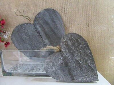 Holz Stern ca 7 cm  grau  mit Naturkordel shabby chic Impressionen