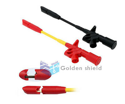 Fully Insulated Quick Piercing  Clip Multimeter Test Probe SpringLoad US Shippin