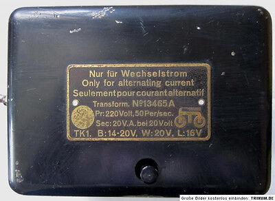 MÄRKLIN TRAFO 13465A Nostalgie Transformator Vorkriegsmodell Transformer vintage