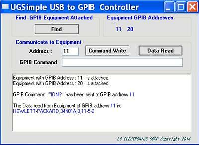 UGSimple USB to GPIB Controller Made in USA