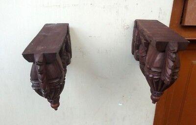 Wall Hanging Corbel Pair Wooden Bracket For Shelve Home Decor Bodhil Diwali Gift 6