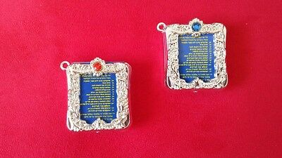 ~  2 Judaica Decorative Psalms / Tehilim / Real Holy Book Miniature  / 100 T 2