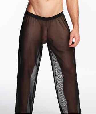 Pantalon sheer taille L noir totale transparence sexy neofan gay inter SEUL P 5