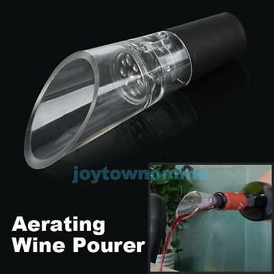 White Red Wine Aerator Pour Spout Bottle Stopper Decanter Pourer Aerating 4