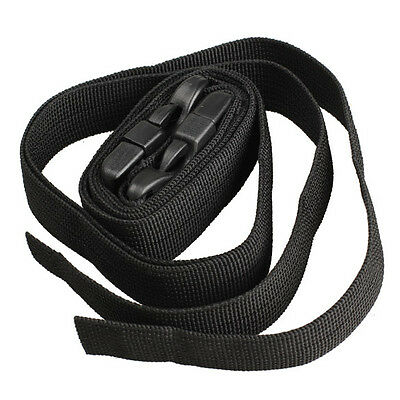 2Pcs 120cm Black Adjustable Nylon Travel Camping Luggage Tent Bind Band Strap 3
