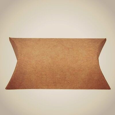 100 Kraft Paper Pillow Favor Box Wedding Party Favour Gift Candy Small Boxes