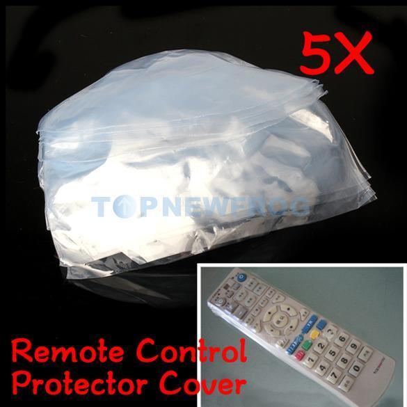 5pcs Heat Shrink Film TV Air-Conditioner Video Remote Control Protector Cover 3