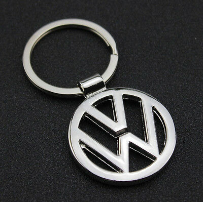 Car Logos 3D chromed Titanium Key Chain Car Keychain Ring Keyfob Metal Keyrings 7