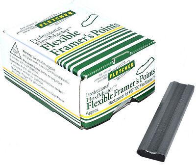 FLETCHER FLEXIBLE FRAMERS POINTS 15mm BLACK x 10000 08-964 PICTURE FRAME CANVAS 2