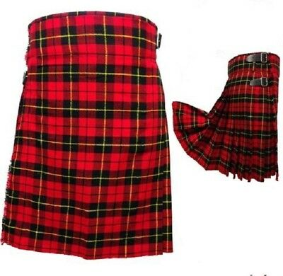 HW Men/'s Scottish kilt 6 YD environ 5.49 m Highland 4 divers tartans couleurs Kilt