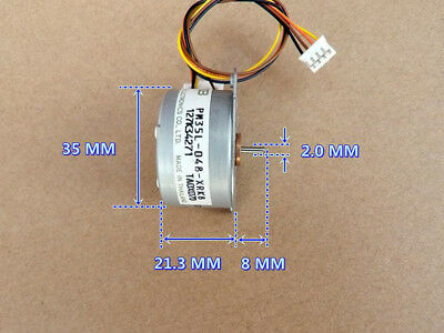 1PCS Used DC3V 35MM 2-phase 4-wire Stepper Motor Step Angle 7.5° with 0.4M Gear
