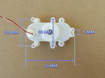 2pcs DC3-3.7V 24RPM Double Reduction Worm Gear Motor 612 Coreless Motor for Toy