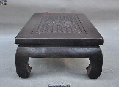 China Huanghuali wood carve Dragon beast Classical Furniture Side Table Tea Desk 4