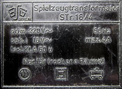 Trafo STr16/4 Seltener DDR Zubehörtransformator VEB-BSG Berlin Piko? vintage OVP