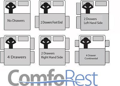 ULTRA MODERN CRUSHED VELVET DIVAN BED iBEX Plus, 3ft/4ft/4ft6/5ft, MADE IN UK 5