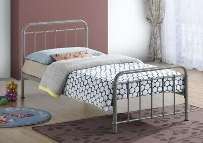 Miami Vintage Metal Bed Frame In Black Ivory Or Grey Finish Single Double King 8
