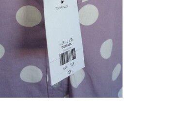 Topshop ladies girls pretty blouse top lilac white polka dot NEW 4