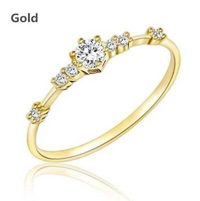 14k gold 7 tiny diamond pieces of exquisite small fresh ladies engagement ring 4