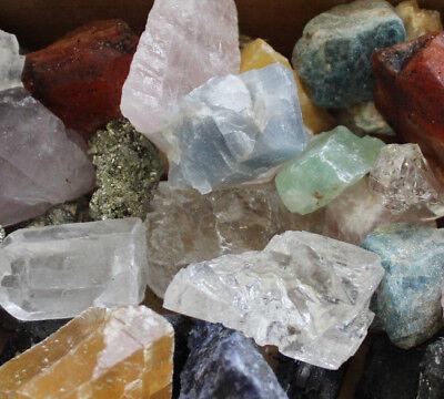 3000 Carat Bulk Lot Crafters Natural Mineral Gems Crystals Rough Rocks (1.3 lb)