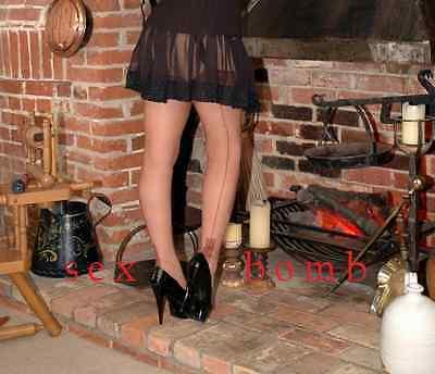 SEXY scarpe decolte Nere plateau TACCO 15 dal n. 35 al 44 fashion GLAMOUR 8