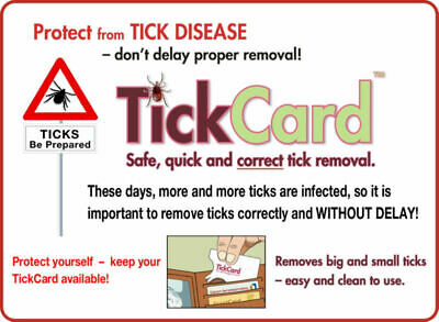 Tick Removal Tool TickCard - Tick Remover Card Safecard - not twister device 2