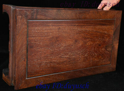 "24"" Old Chinese Huanghuali Wood handcrafted Furniture table Desk Tables Statue 8"