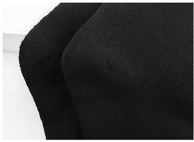 6Prs BAMBOO SOCKS Men's Heavy Duty Premium Thick Work BLACK Bulk New 4