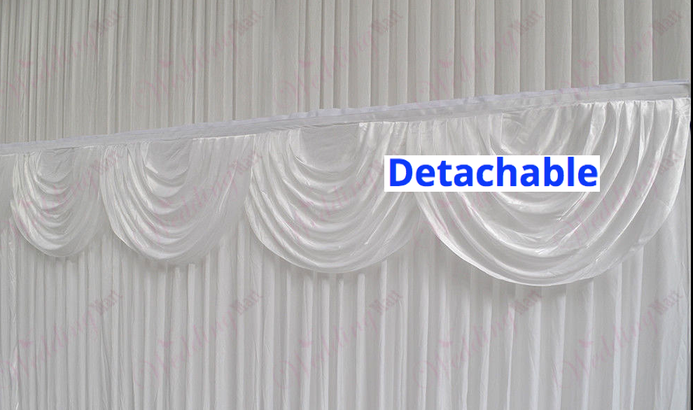 Wedding Party Stage Backdrop Swag Drape Sheer Satin Curtain Photo Background NEW 2