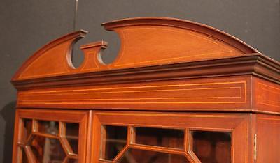 Antique Edwardian Sheraton China Cabinet Bookcase 12