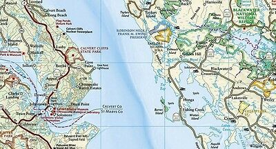 DELMARVA PENINSULA CHESAPEAKE Bay Outdoor Recreation Map by National on