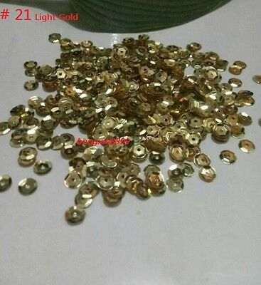 HOT DIY 2000 pcs Oval Round Cup Sequins Paillettes Loose AB 6mm Wedding Craft 10