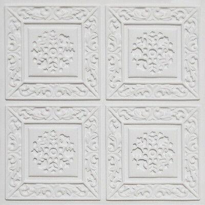 3D Embossed Faux Tin Decorative 24x24 PVC Ceiling Tile #203