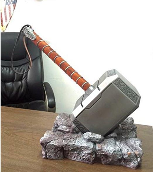 US Stock! 1:1 Full Solid Avengers Thor Hammer Resin Base Halloween Cosplay Props 5