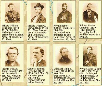 Great Locomotive Chase. The General. Georgia Railroad. Civil War Historical Map