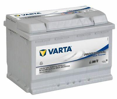 Varta LFD75 Calcium Scellé Bateau, Caravane Batterie 12V 75AH 2