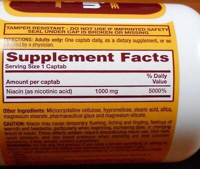 1 of 4FREE Shipping Rugby Niacin 1000mg Timed Released Tablets 100ct