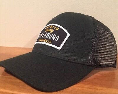 New Billabong Shifter Mens Black Snapback Trucker Cap Hat