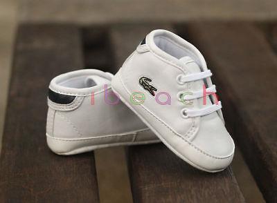 Newborn Baby Boy Girl PreWalker White Soft Sole Pram Shoes Sports Trainers 0-18M 3