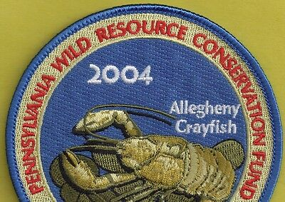 Pa Pennsylvania Fish Game Commission Related 2004 WRCF Allegheny Crayfish Patch