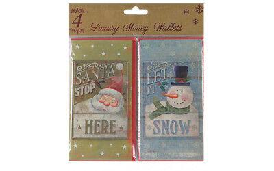 Packs Christmas Money Wallets Gift Voucher Presents Self Sealing 1,4, 6 EASTER 5
