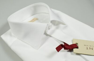 Camicia Bianca Slim Fit Regent by Pancaldi 100/% Cotone liscio collo moda saldi
