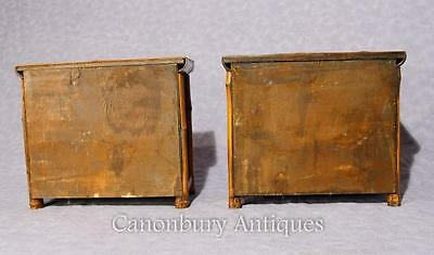 Pair Chinese Antique Bamboo Chest Drawers Mini Travelling Samples 1880 2