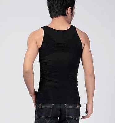 Men Body Slimming Tummy Shaper Belly Underwear shapewear Waist Girdle Shirt Vest 3