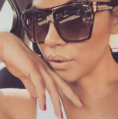 """Women Sunglasses XXL OVERSIZED """"Lauren"""" Aviator Flat Top Square Shadz GAFAS"""