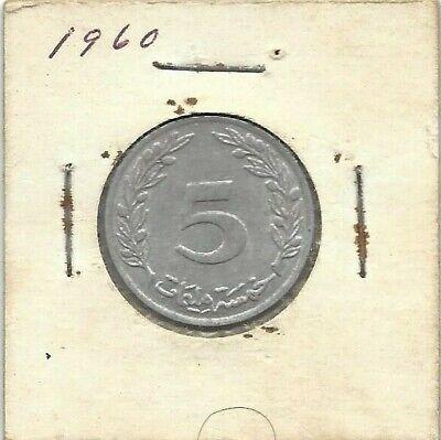 1960 Tunisia 5 Milliemes 2