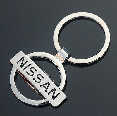 Car Logos 3D chromed Titanium Key Chain Car Keychain Ring Keyfob Metal Keyrings 5